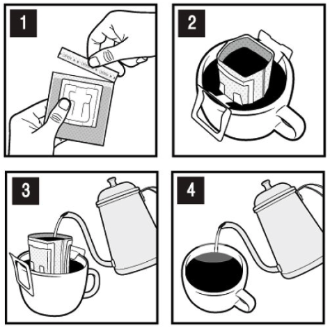 instruction pour les sachets filtres